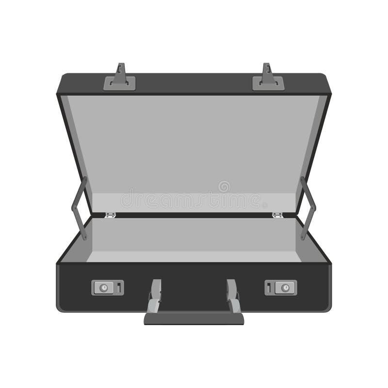 Opróżnia pustą walizkę Podróży skrzynka również zwrócić corel ilustracji wektora ilustracja wektor