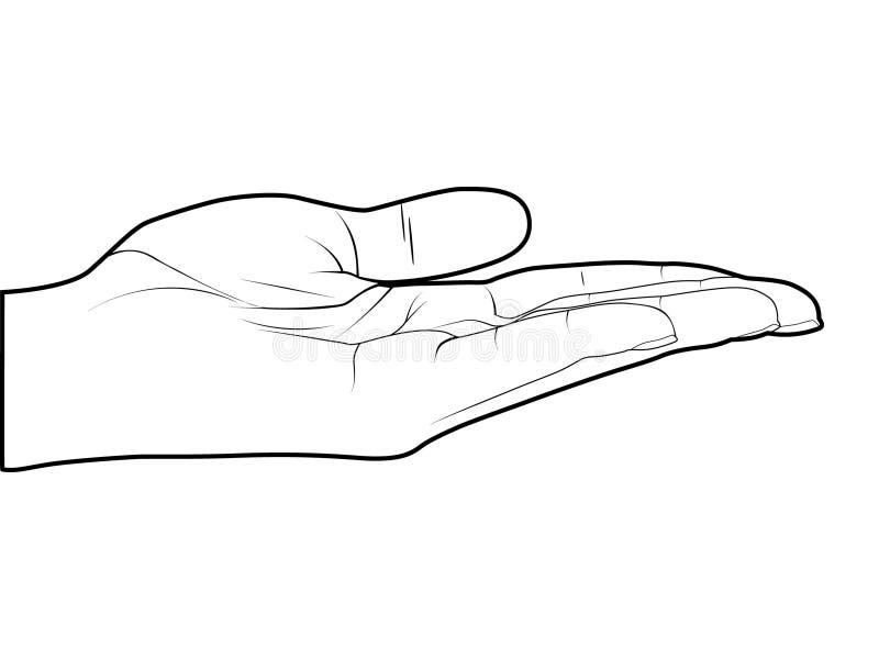 opróżnia rękę ilustracja wektor