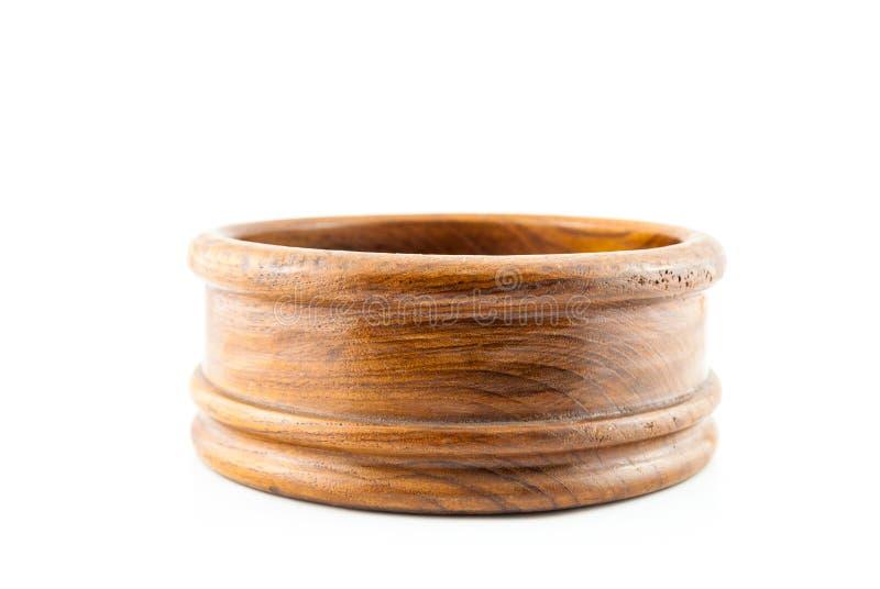 Opróżnia round drewna pudełko obraz royalty free