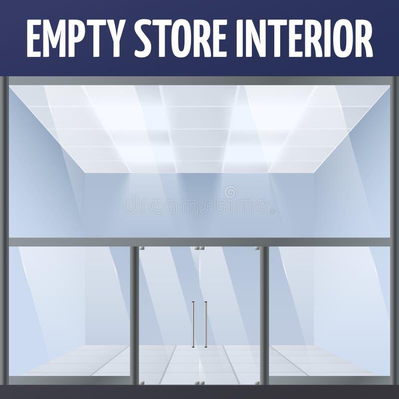 Opróżnia sklepu wnętrze ilustracja wektor