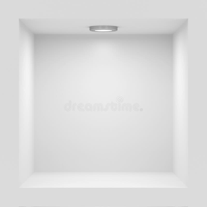 opróżnia stojaka biel ilustracja wektor