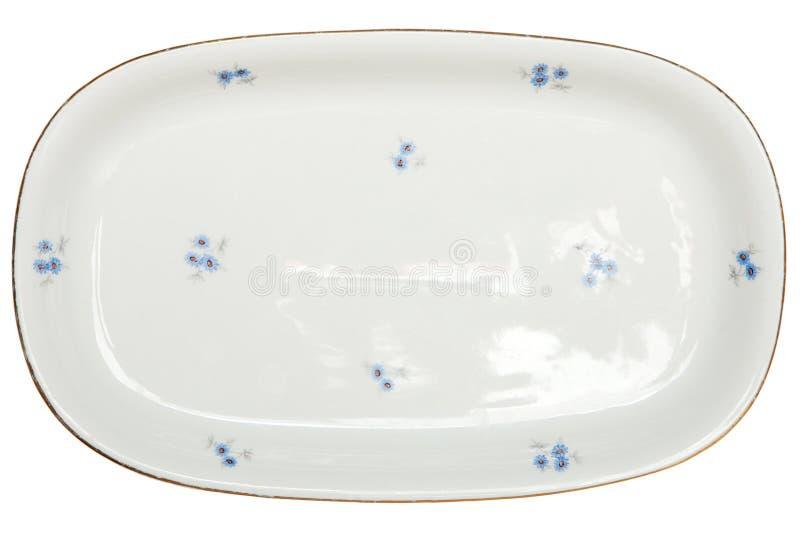 Opróżnia talerza na biały tle zdjęcie stock
