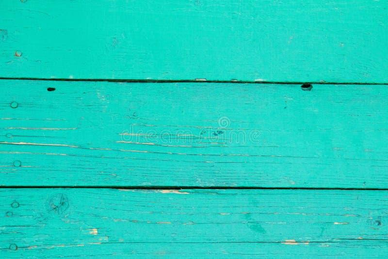 Opróżnia zielonego drewnianego stołowego tło Rocznik zieleni powierzchnia fotografia stock