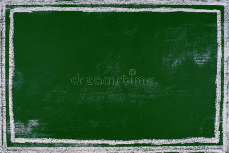 Opróżnia zielonego Kredowej deski tła Blackboard Pustego tło fotografia stock
