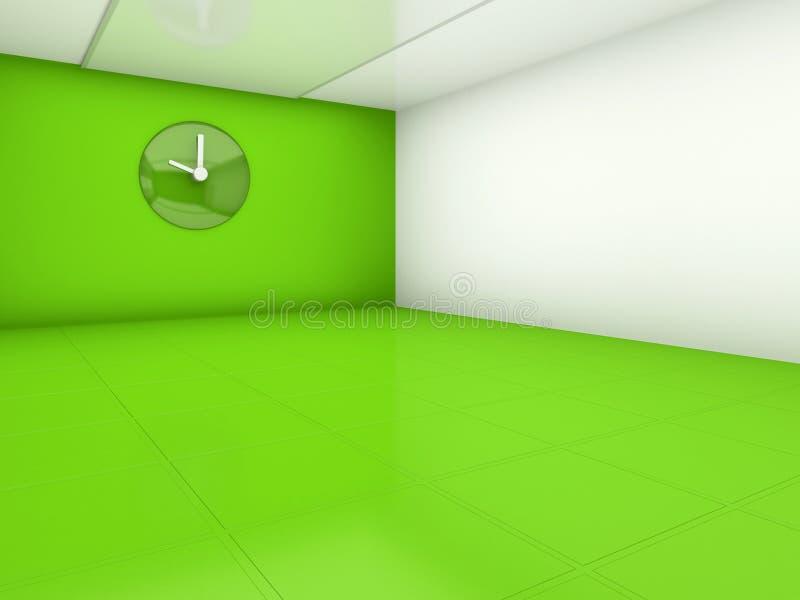 opróżnia zielonego pokój ilustracja wektor