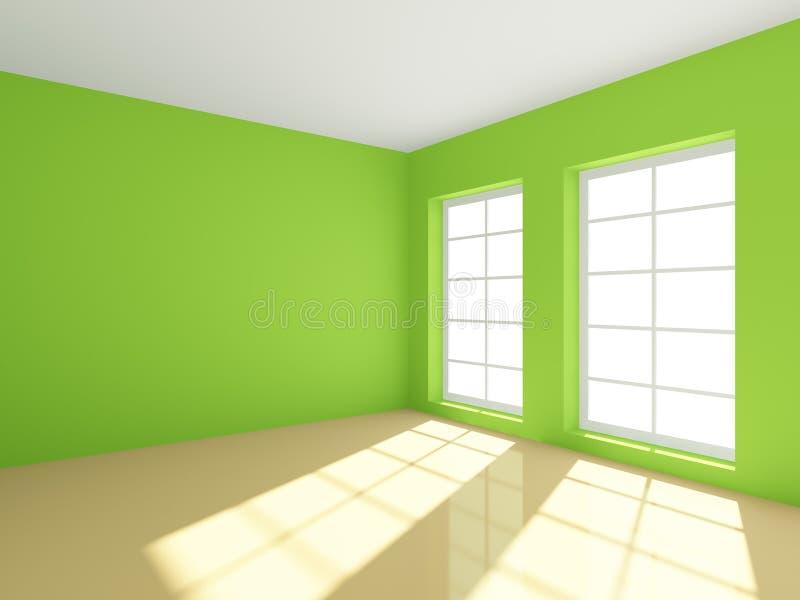 opróżnia zielonego pokój royalty ilustracja