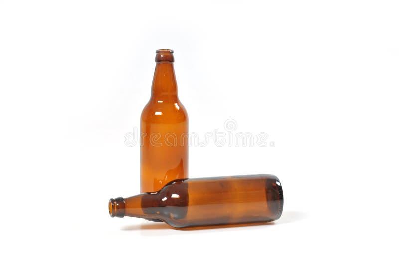 Opróżniają butelki piwo zdjęcia royalty free