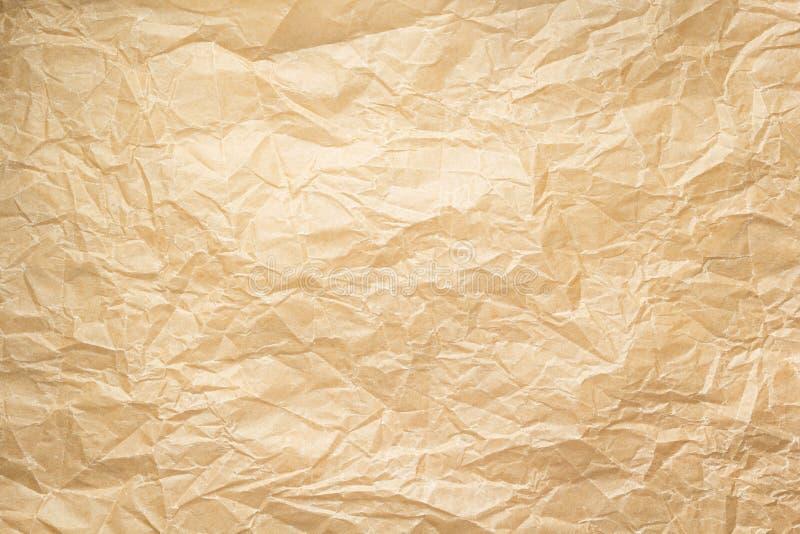Opróżniam marszczył papier jako tło fotografia royalty free