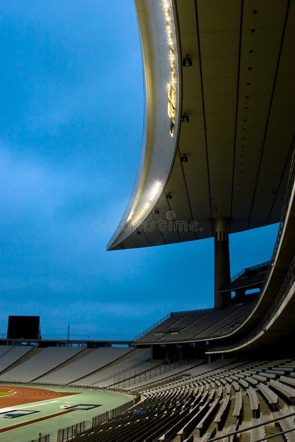 opróżnij sportu na stadionie zdjęcie stock