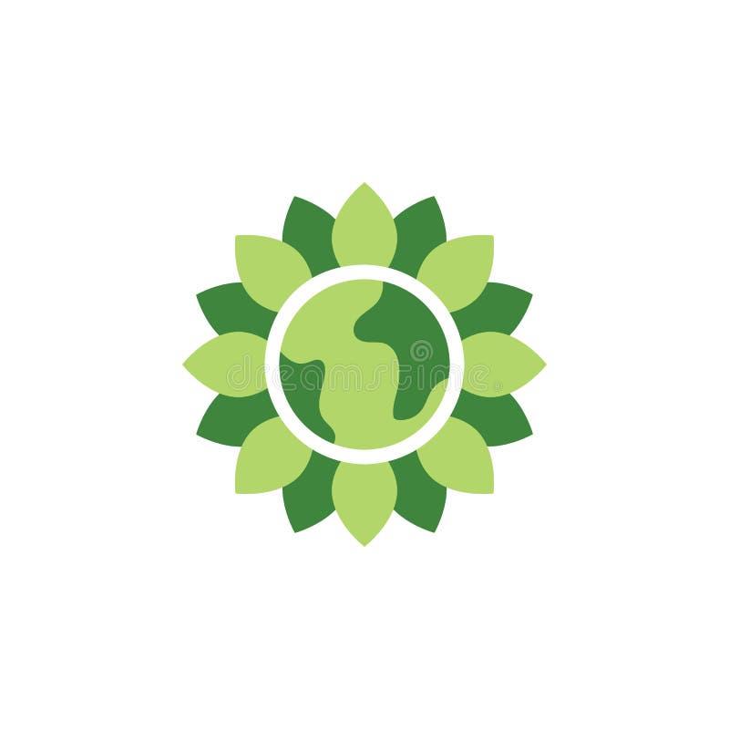 Oprócz światowej, zielonej ziemi, barwił ikonę Elementy opr?cz ziemska ilustracyjna ikona Znaki i symbole mog? u?ywa? dla sieci, royalty ilustracja