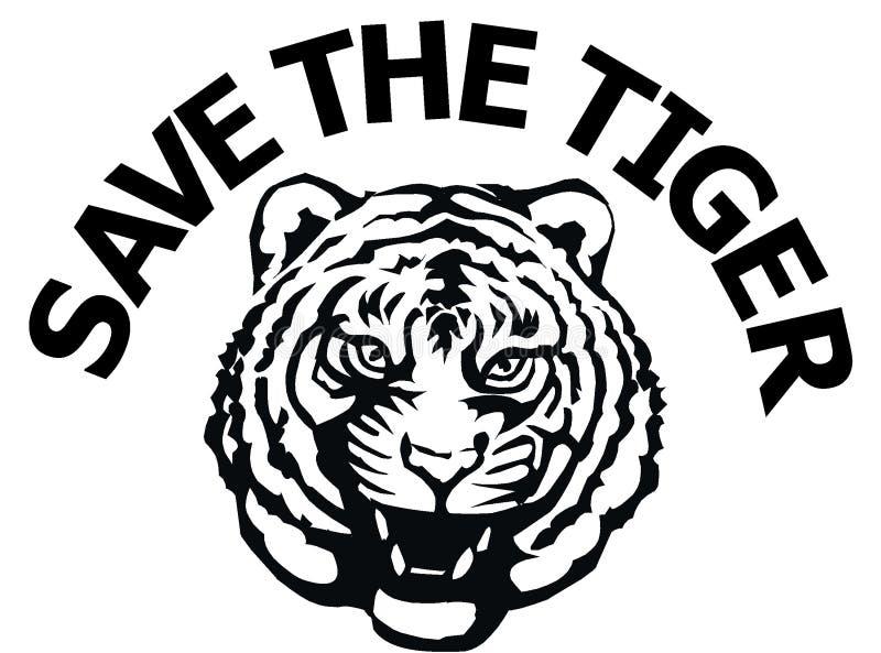 oprócz tygrysa royalty ilustracja
