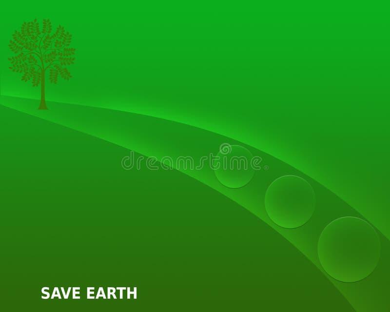 Oprócz ziemi Oprócz natury Oprócz środowisko zieleni Gradientowego Abstrakcjonistycznego tła royalty ilustracja