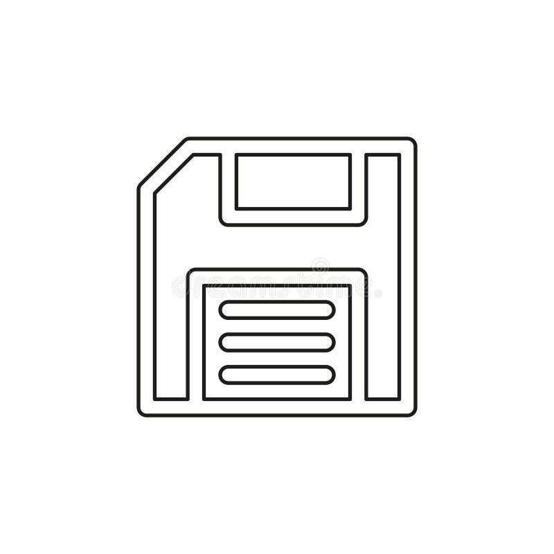 Opr?cz ikony pami?? magazyn - komputerowy symbol - royalty ilustracja
