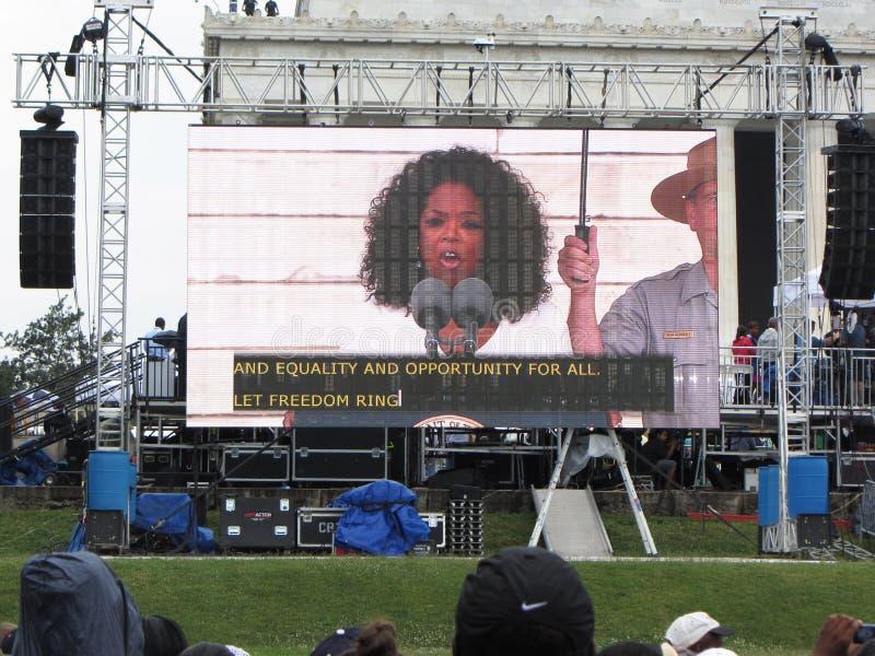 Oprah Winfrey Speaks stock foto