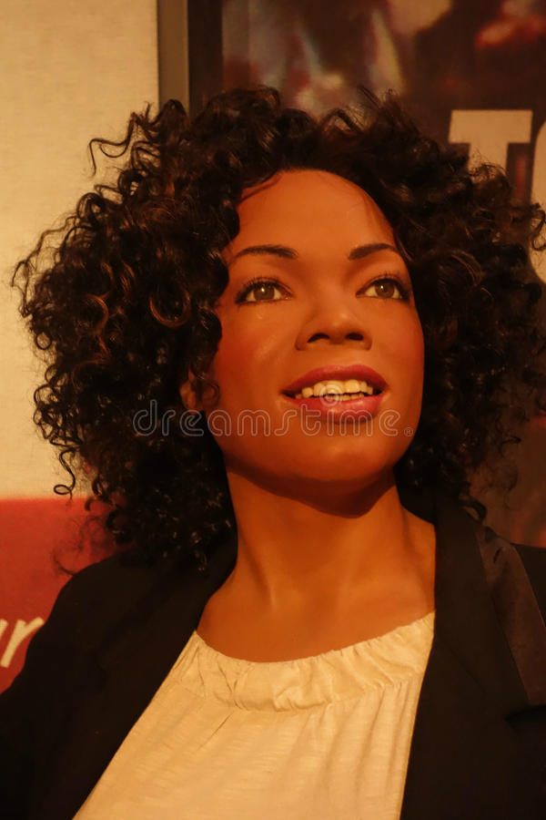 Oprah Winfrey Wax Figure immagine stock