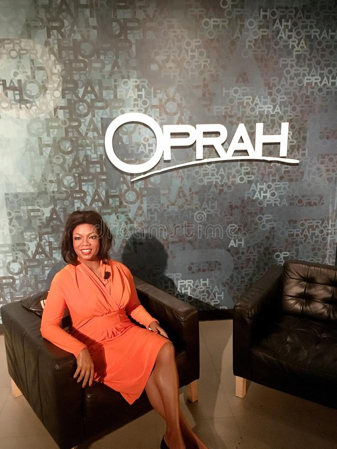 Oprah Winfrey Waxwork Figure photo libre de droits