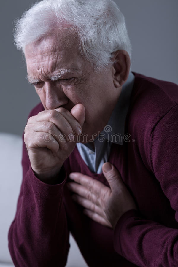 Opressive cough royalty free stock images
