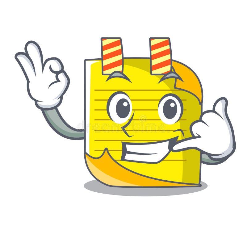 Oproepen me het document van de mascottenota met referentie royalty-vrije illustratie