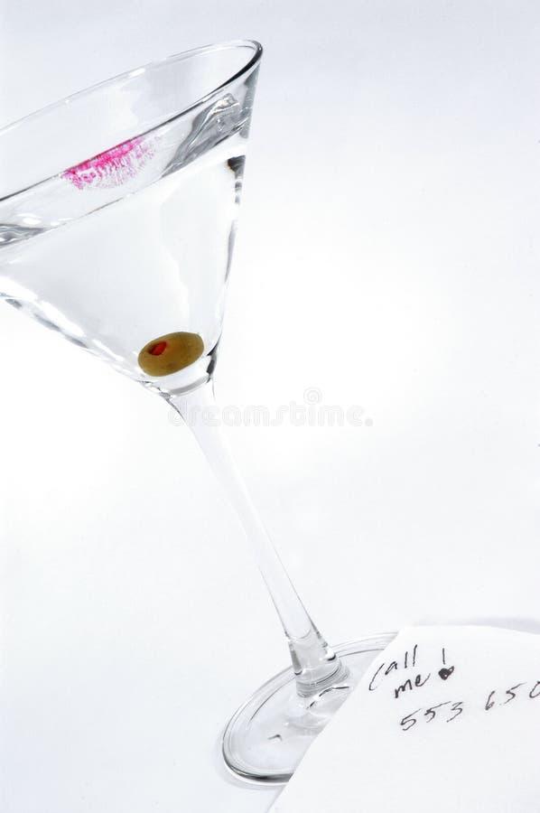 Oproepen me Martini stock fotografie