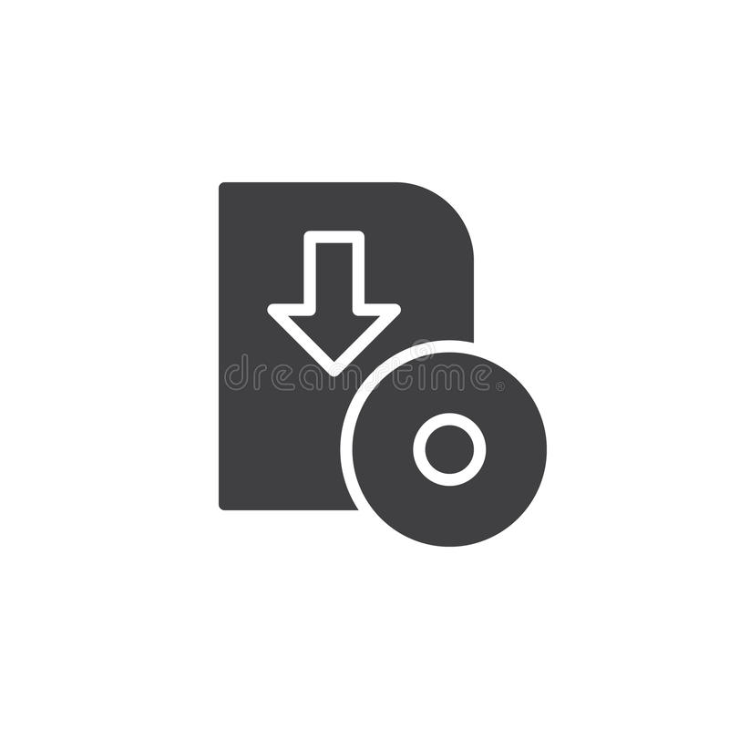Oprogramowania ściągania ikony wektor, wypełniający mieszkanie znak ilustracja wektor