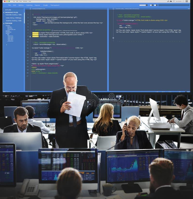 Oprogramowania programowania sieci rozwoju pojęcie zdjęcia stock