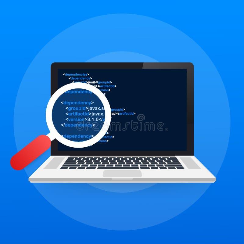 Oprogramowania testowanie Rozwój oprogramowania obieg proces koduje probierczego analizy pojęcie również zwrócić corel ilustracji ilustracja wektor