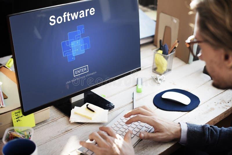 Oprogramowanie Cyfrowych elektronika internet Programuje pojęcie zdjęcia royalty free