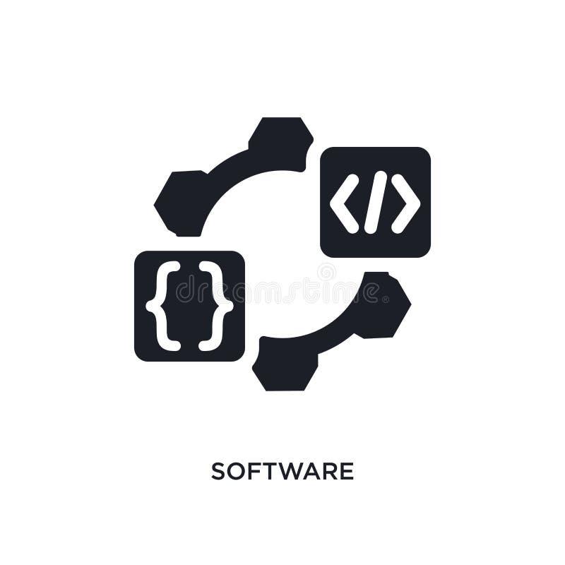 oprogramowanie odosobniona ikona prosta element ilustracja od programowania pojęcia ikon oprogramowanie logo znaka symbolu editab ilustracja wektor