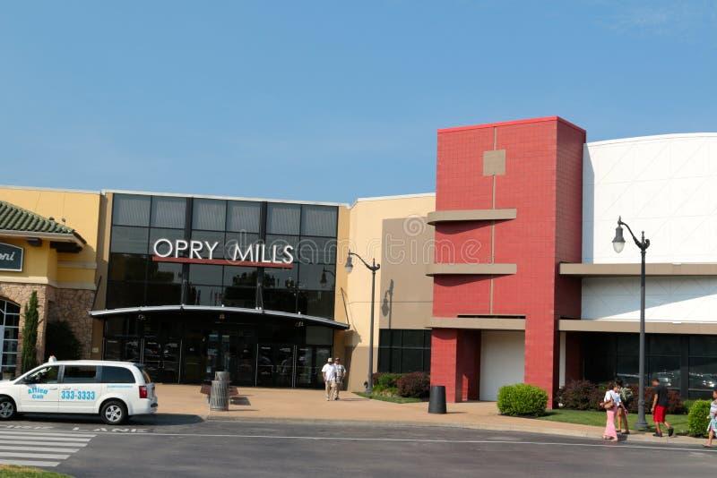 Opry的入口碾碎购物中心,纳稀威,田纳西 图库摄影