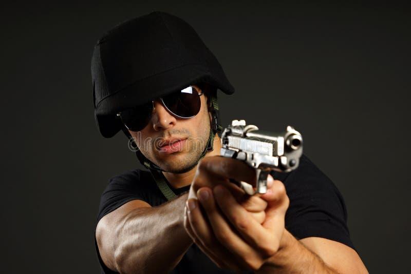 Ops СВАТ полиции стоковая фотография rf