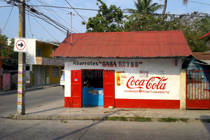 Opslag in Tuxpan, Mexico stock fotografie