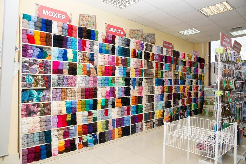 Opslag van goederen voor creativiteit en handwerk stock foto