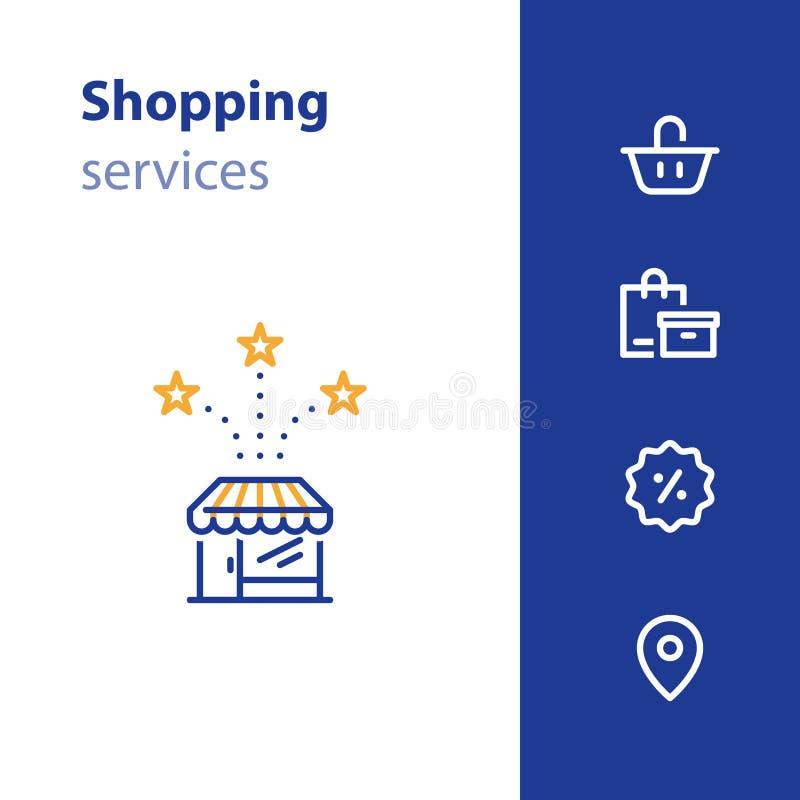 Opslag voorpictogram, het winkelen mand, ordezak, het teken van de verkoopmarkering stock illustratie