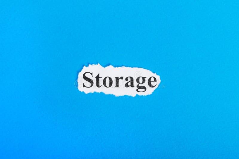 Opslagtekst op papier Word Opslag op gescheurd document Het beeld van het concept vector illustratie