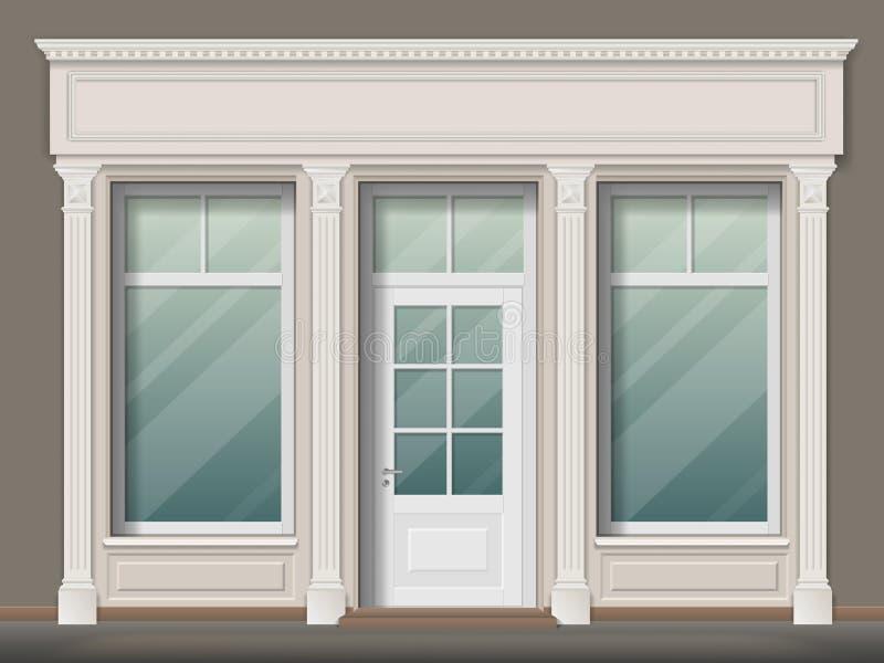 Opslagvoorzijde met kolommen vector illustratie