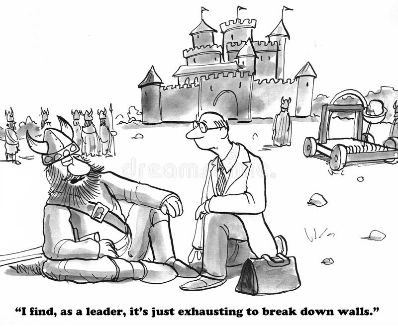 Opsplitsingsmuren royalty-vrije illustratie
