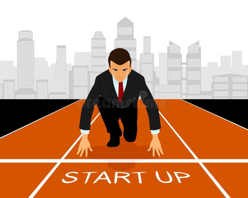 Opstarten in zaken stock illustratie