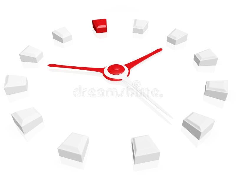 Opstelling uw tijd royalty-vrije illustratie