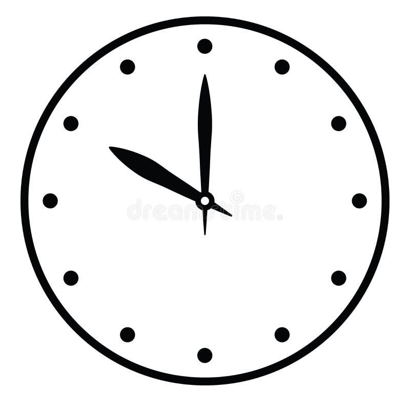 Opstelling uw tijd E r Eenvoudige vlakke vectorillustratie stock illustratie