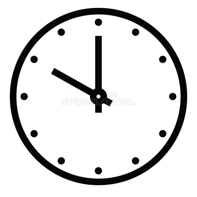 Opstelling uw tijd E r Eenvoudige vlakke vectorillustratie royalty-vrije illustratie