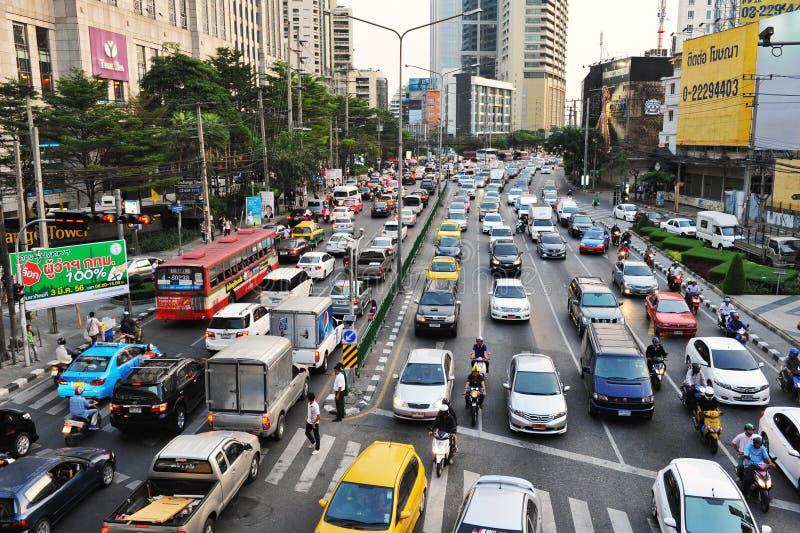 Opstopping in Bangkok stock afbeeldingen