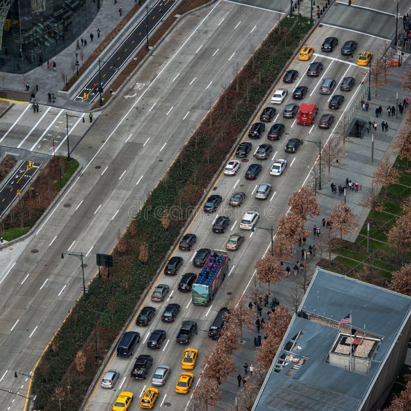 Opstopping in de Stadsweg van New York royalty-vrije stock afbeeldingen