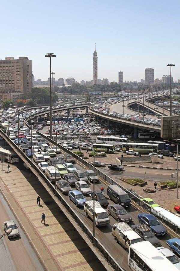 Opstopping Kaïro royalty-vrije stock afbeelding