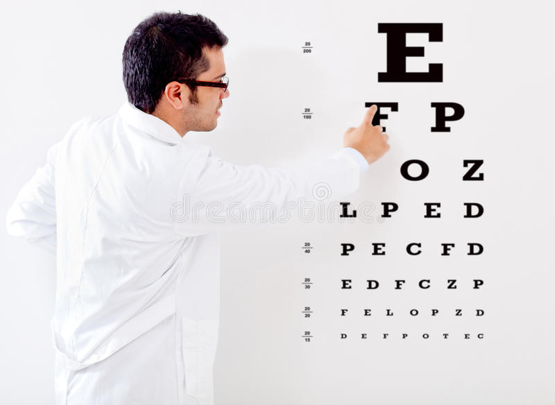 Download Optemetrist Making A Vision Test Stock Photo - Image of casual, foresight: 25433074