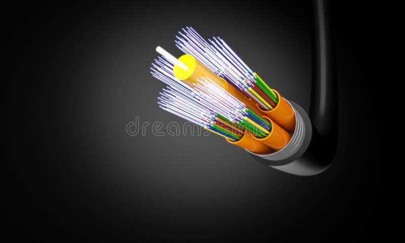 Optic fiber cable royalty free illustration
