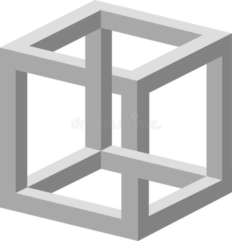 Optic illusion stock photography