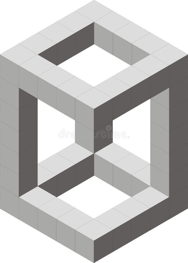 Optic illusion royalty free stock photography