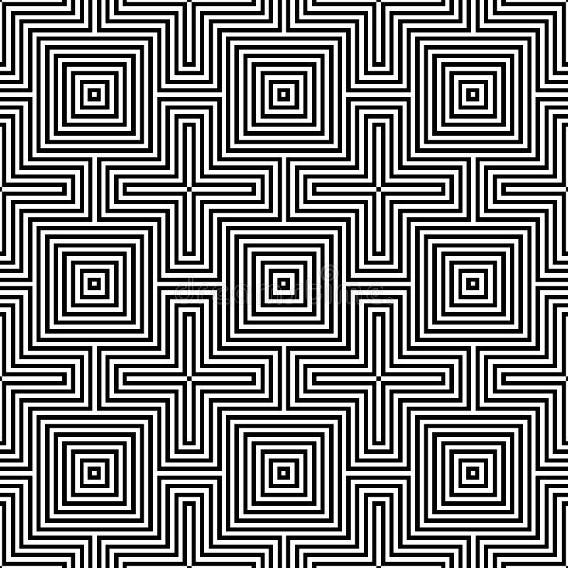 Optic illusion.geometric seamless pattern royalty free illustration
