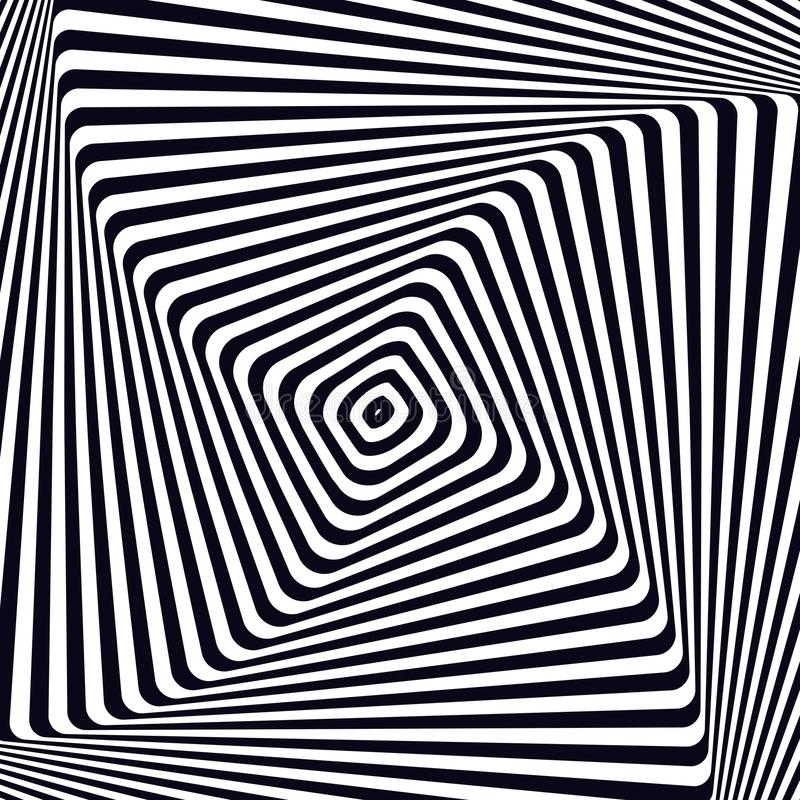 Download Optical Art Illusion Background Modern Geometric Monochrome Vector Pattern