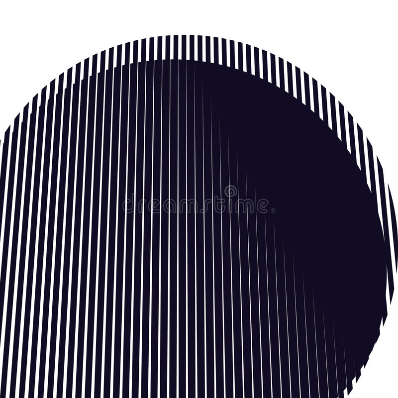 Optical background with monochrome geometric lines. Moire patter vector illustration